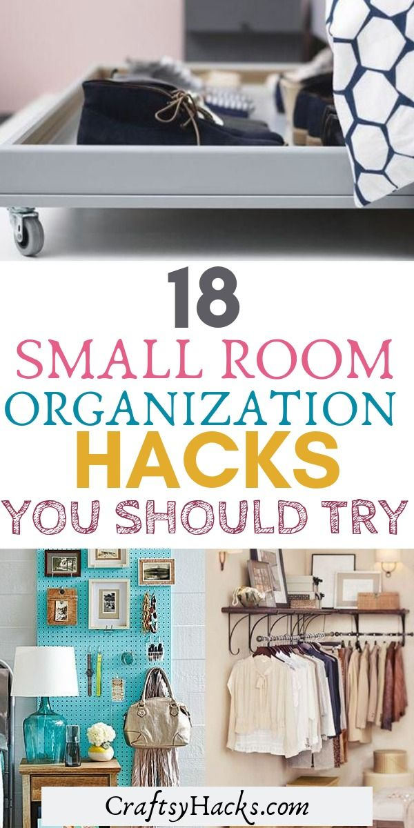 18 Small Room Organization Hacks You Should Try