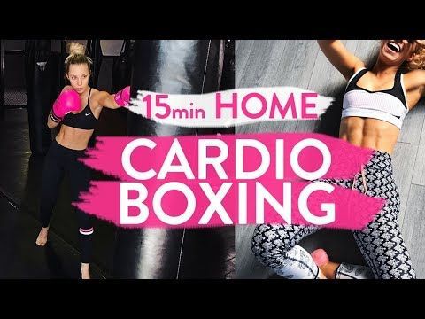 15min CARDIO BOXING WORKOUT | At Home Fat Burning Blaster!! - YouTube
