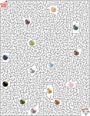 Printable Maze Puzzles for Adults | Maze Puzzle! Free Maze Puzzle! Jewelry Maze! Jewelry Related Maze ...