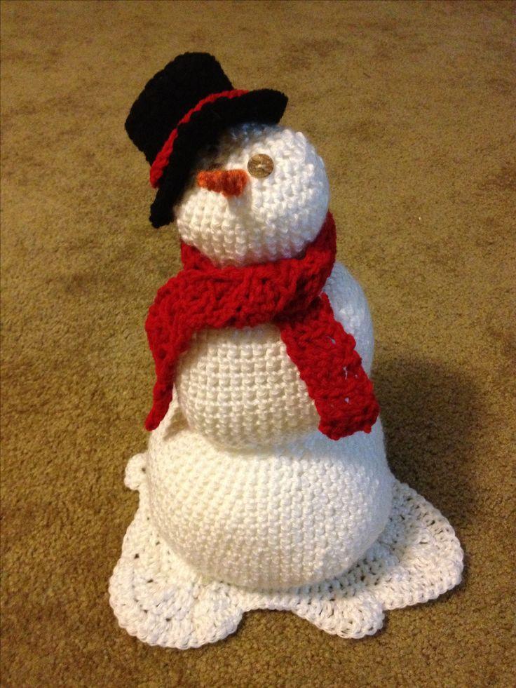 Crochet snowman!