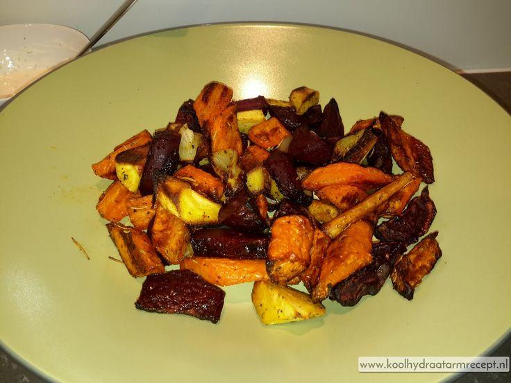 Geroosterde wortel groenten