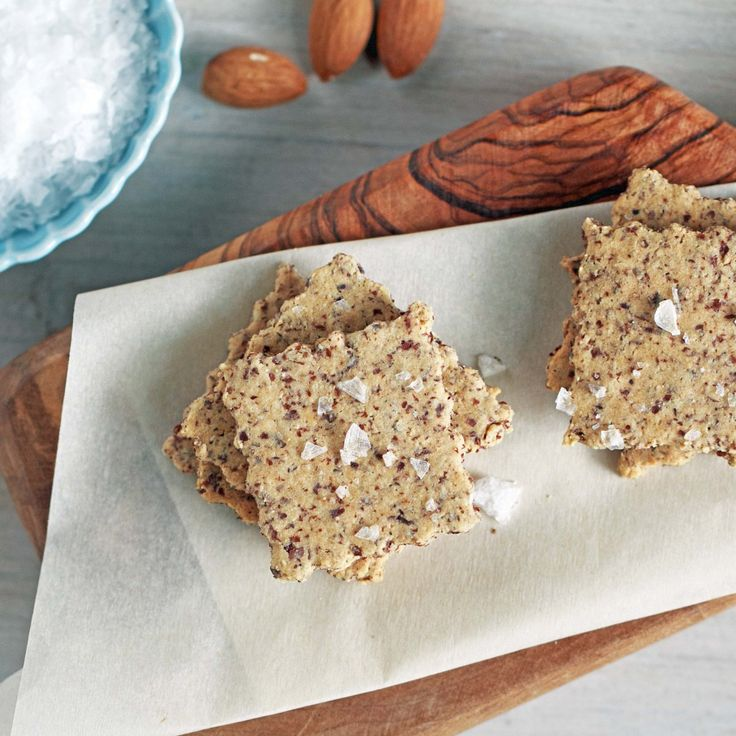 grain free paleo almond crackers