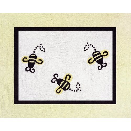 This Bumble Bee Rug Is Super Cute And Fun It Also Incorporates The Yellow Found On Wall As Well Black Accents Around Nursery