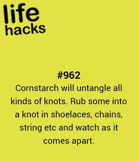 diy, knot, tips, hacks, 1000 life hacks