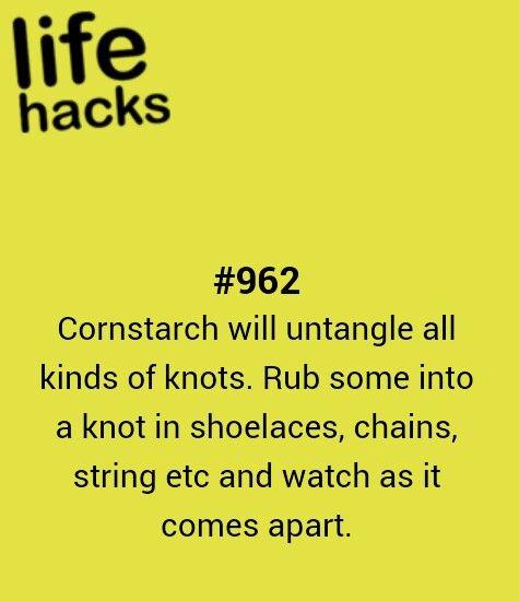 diy, knot, tips, hacks, 1000 life hacks
