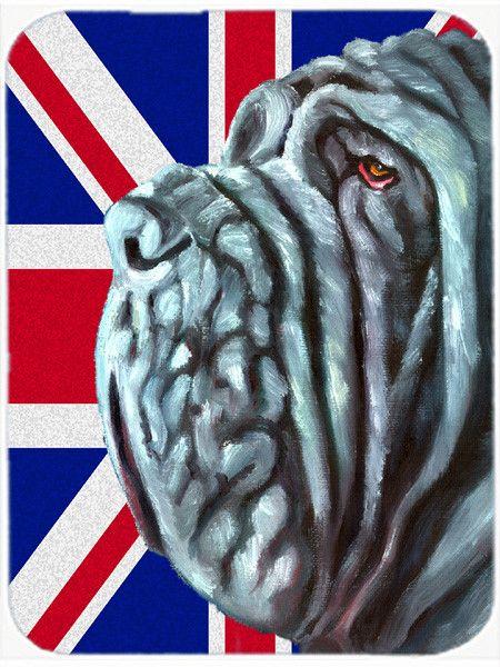 Neapolitan Mastiff with English Union Jack British Flag Mouse Pad, Hot Pad or Trivet LH9596MP
