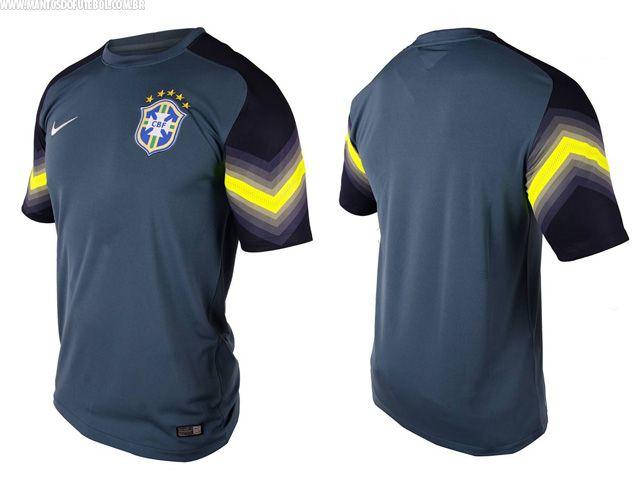 Camisas de goleiro do Brasil 2014 Nike azul