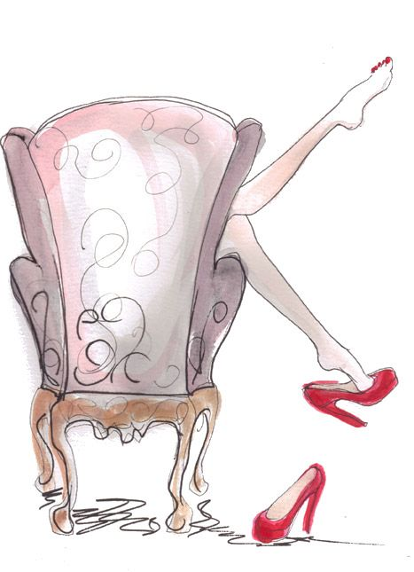 Inslee Haynes #illustration (There's nothing like kicking off your shoes at the end of a long day!)