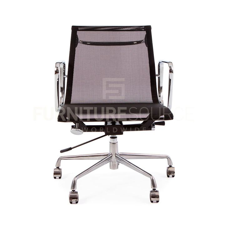 eames style medium back office chair white replica singapore mesh ergo sling type low black base herman miller