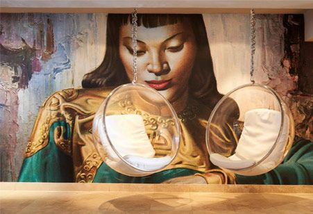 Tretchikoff wall mural from Robin Sprong Wallpaper available in the UK from www.presson.co.uk/robin-sprong