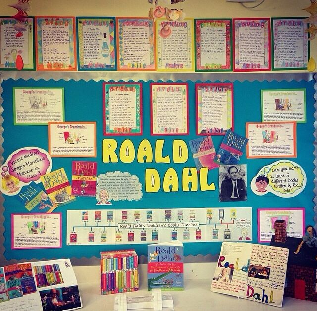 Literacy Roald Dahl ks2 topic display