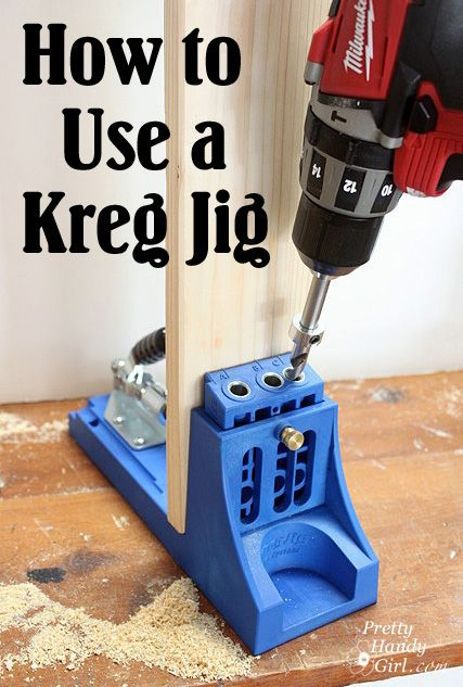 How to Use a Kreg Jig from Pretty Handy Girl - I'm sure this will come in handy with the first project I attempt to tackle