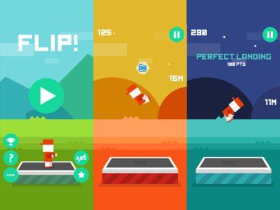Dribbble - FLIP Iphone game by Igor Radivojevic
