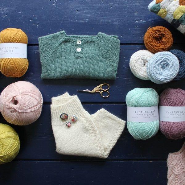 Tusindfryd Cph, knit and crochet design in own yarn brands Tusindfryds Hverdagsuld og Engleuld