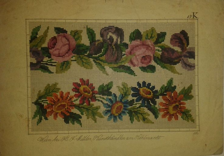 Beautiful Berlin WoolWork Border Patterns Produced By H.F.Müller ~ eBay.de