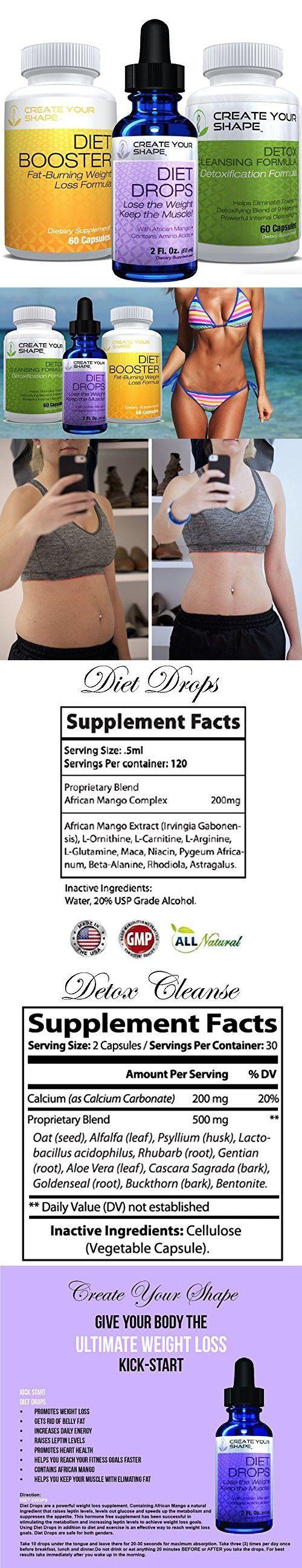 Diet Booster Diet Pills + Detox Cleanse + Diet Drops - 3 Pack - Lose Weight - Amino Acids - Appetite Suppressant - Lose Belly Fat - Weight Loss Pills - FAST Weight Loss #bellyfatburnerpills