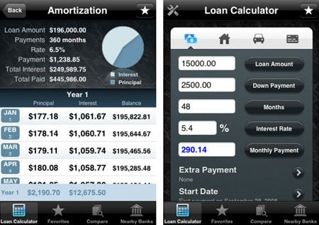 loan tracking app iphone