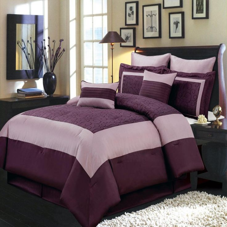 purple king size bedding sets