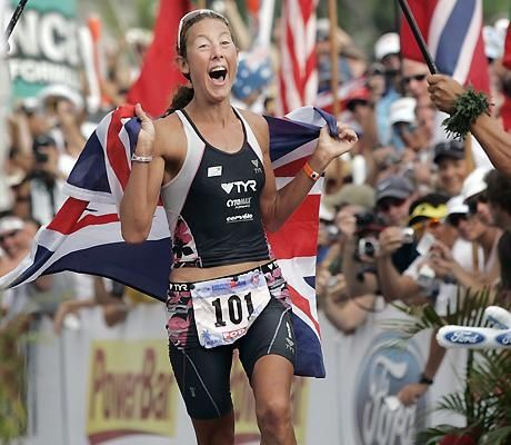 Won every single one of her 13 Ironman competitions, holds the womens world record of 8hr 18min 32sec  which is 32 minutes faster than the previous record which had stood for 14 years and has won 4 world championships. Yeah I think Chrissie Wellington rocks.