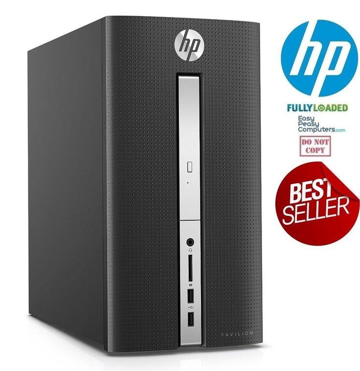 HP Desktop Computer Windows 10 PC New Fast Tower Pavilion 8GB 1TB + FULLY LOADED How would you like your next computer to be fully loaded and easy to use? A computer that requires no setup at all. Why waste time trying to figure out how to setup a computer when we have done the work for you!. EasyPeasyComputers.com has taken the time to configure this computer for home, school or work. We want to make your life easier!  Best cheap computers for sale deals @easypeasycomputers…