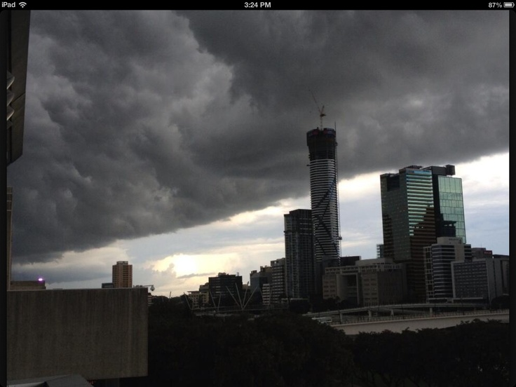 Storm coming to Brisbane.