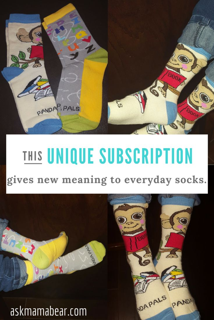 askmamabear.com    Check out this unique sock subscription! Special coupon included in the article. When you buy socks, you also donate socks to those in need. Very cool!