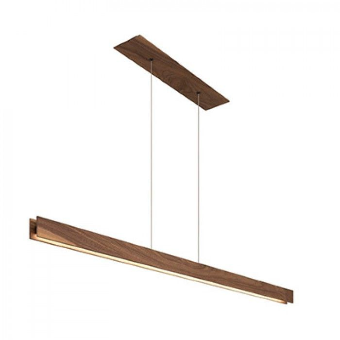 Edge Lighting Glide Wood Center Feed LED Architectural Linear Suspended Strip (Direct) Down Lighting | AlconLighting.com http://www.justleds.co.za