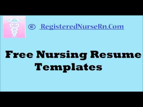 how to create a nursing resume templates free resume templates for nurses - Nurse Resume Templates