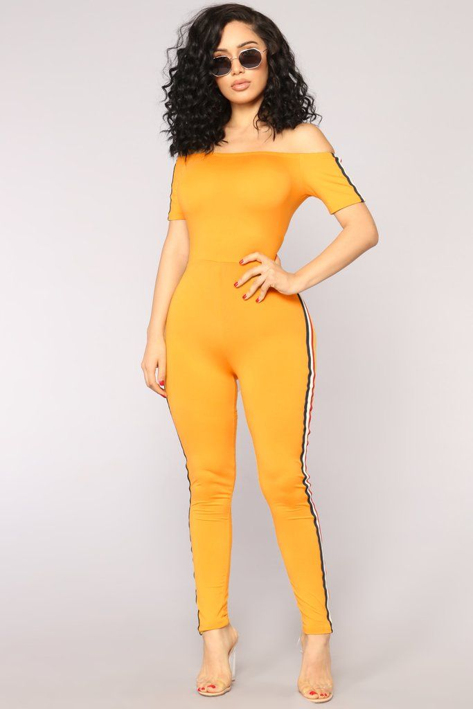 Aliya Jumpsuit Mustard Trendy Fashion Outfits Party Dress Classy Fashion Nova