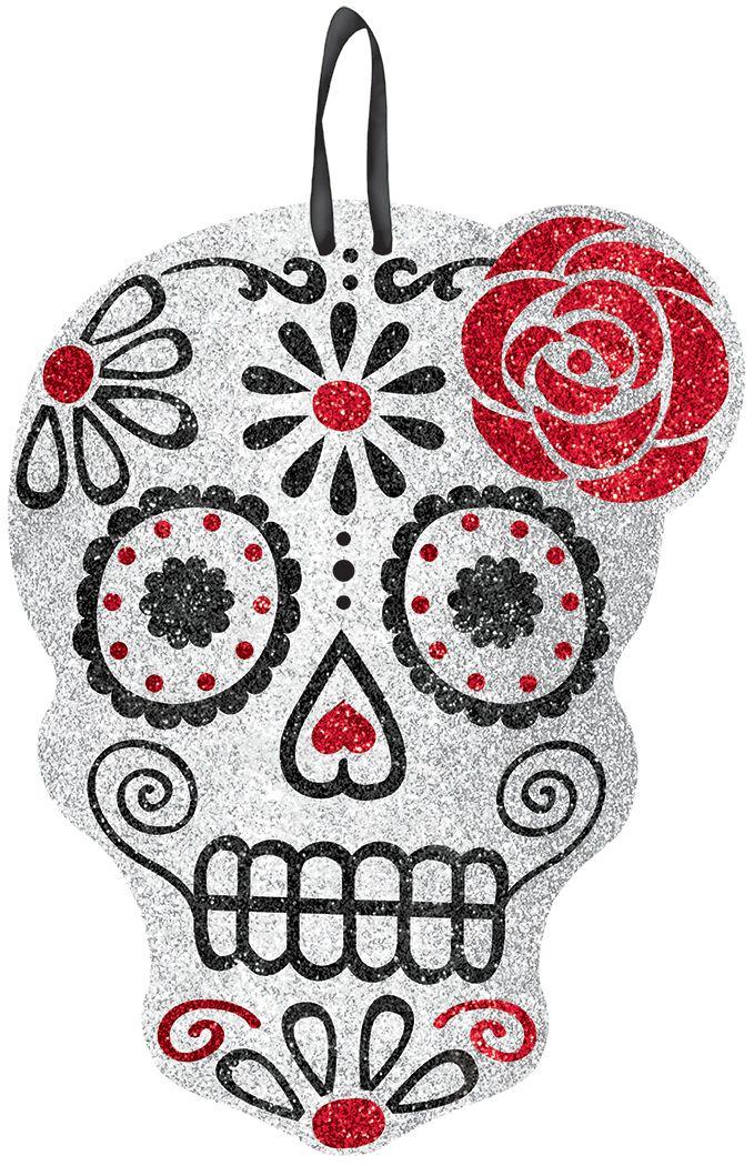 decorazione halloween cranio paillettato questa decorazione di halloween consiste in un cranio tempestato di - Mexican Halloween Skulls