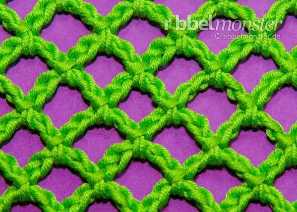 Netz häkeln – gleichmäßige Karos