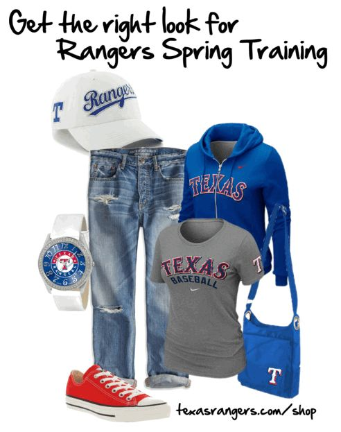 Get the right look for Spring Training. #RangersPinspriation