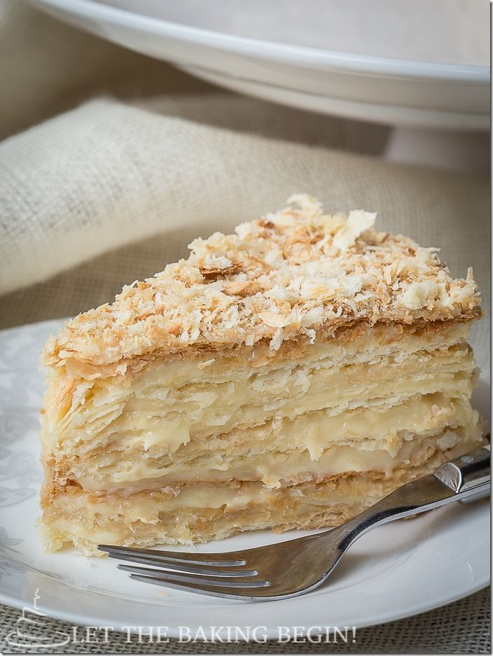 """""""""""Love this recipe. It's even better then the Napoleon cakes I tried in Paris! Seriously."""" - A Napoleon Cake Can not get better than this. by LettheBakingBeginBlog.com"""