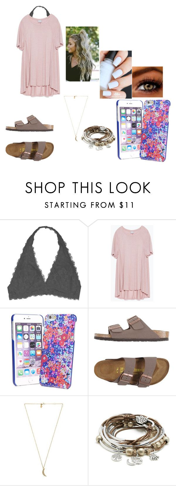 """""""I had Cookout and Pizza today. I'm stuffed"""" by chanel-xoxo123 on Polyvore featuring Youmita, Zara, Vera Bradley, T3, Birkenstock, Rebecca Minkoff and Lizzy James"""