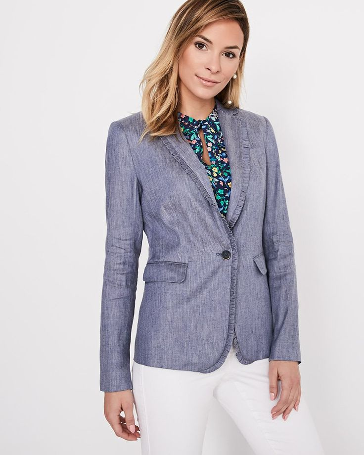 RW&CO. | Chambray Blazer with frills | Spring 2018