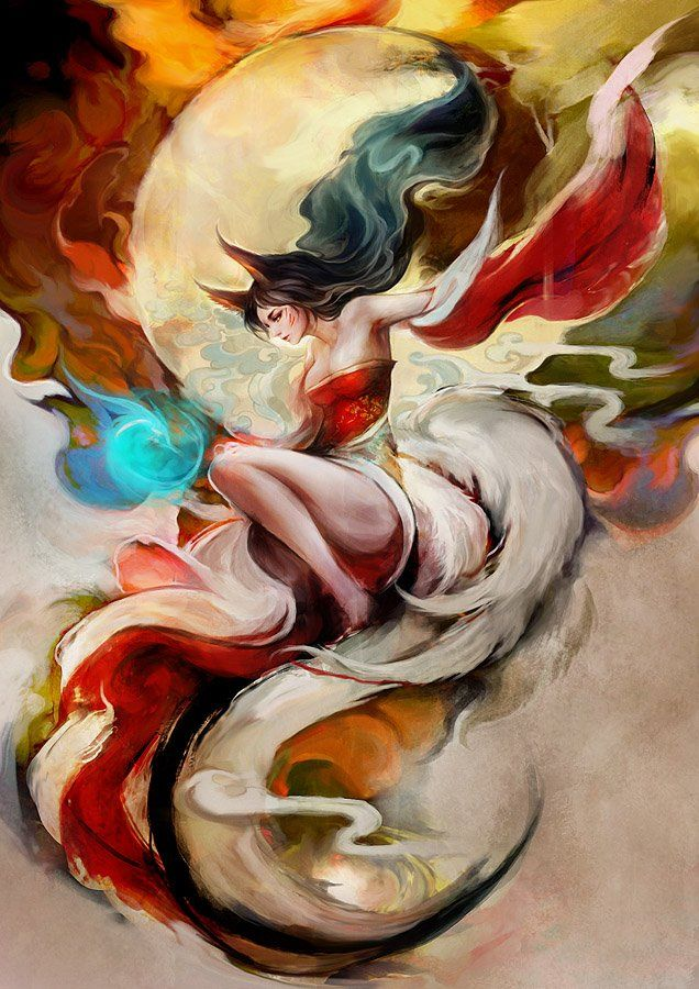 Ahri. League of Legends.