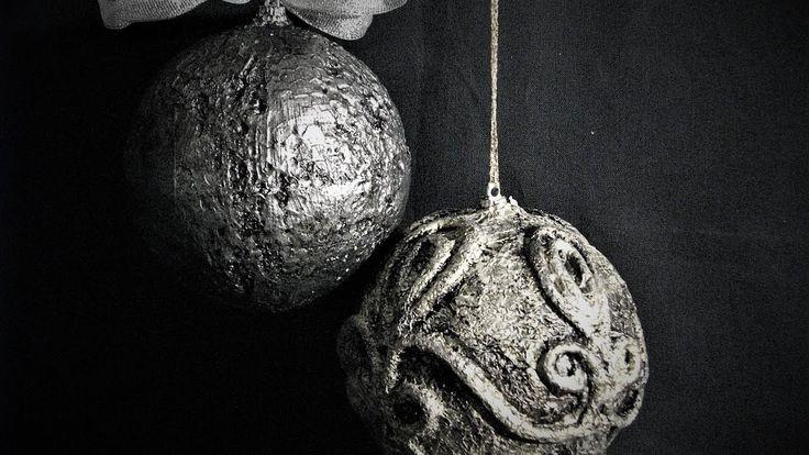 Jak zrobić bombki wyglądające jak ze starego srebra -Pomysły plastyczne ...