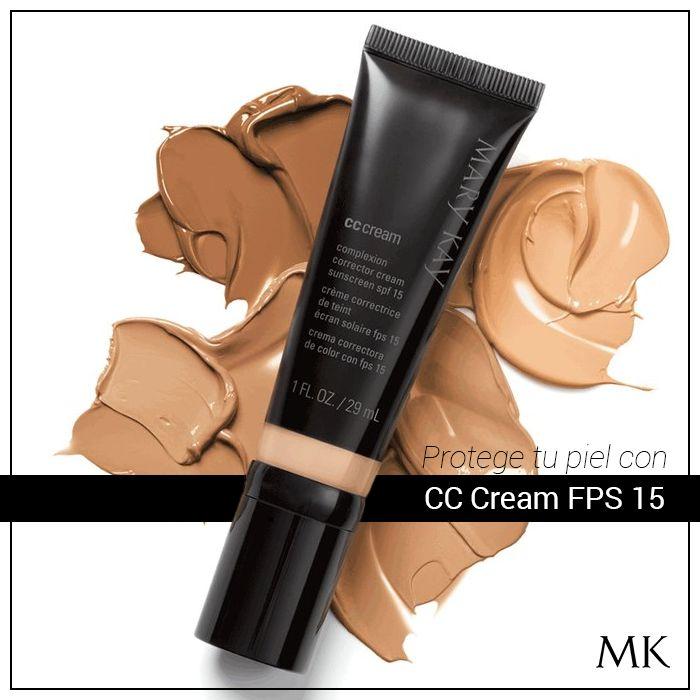 ¿Buscas una base de maquillaje que proteja tu piel? Mary Kay sabe lo importante que cuides tu rostro, por eso la CC Cream FPS 15, cuenta con protector solar y a la vez actúa como una base de maquillaje corrigiendo las imperfecciones de un modo natural.