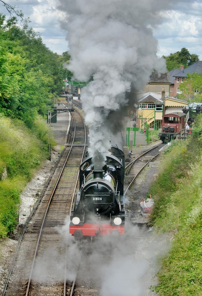 """31806 departs"" by Stephen Morley #flickr #steam"