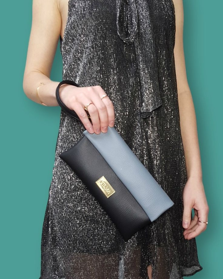 """""""Cruelty is one fashion statement we can all do without""""-Rue Mcclanahan.Featuring vegan the grey-black wristlet from http://vilmaboutique.com"""