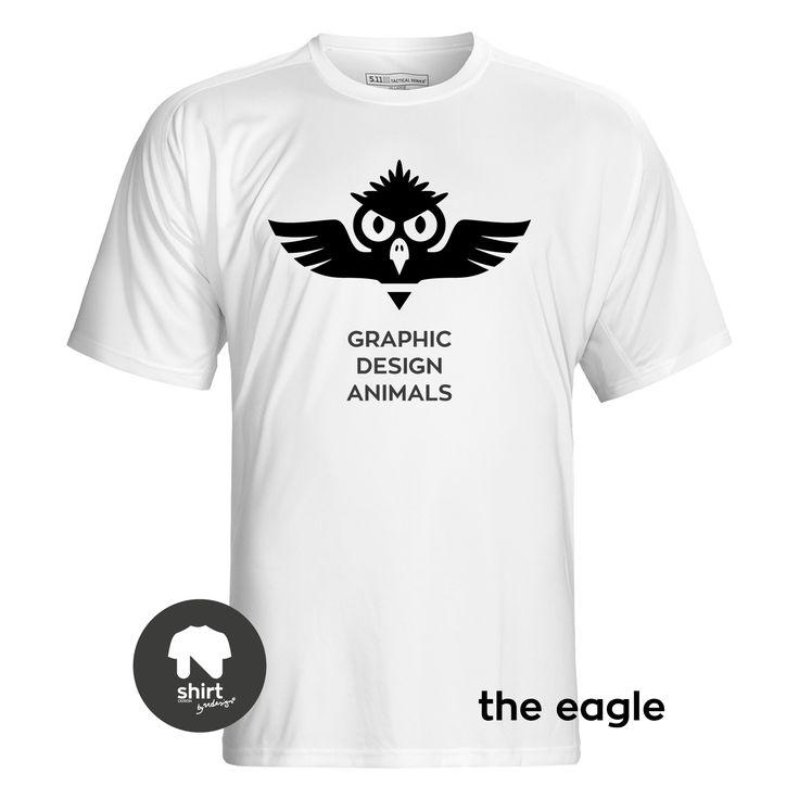 Graphic Design Animals T-Shirt Series, The Eagle #T-shirt #design #graphic_design by George Nikolaidis