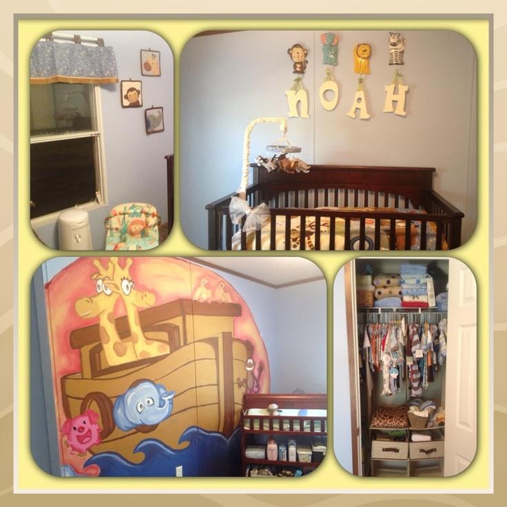Noahs Ark Framed Picture For Baby Room