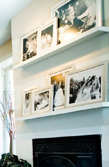 love this wall gallery. so pretty - and easily updatable. (is that a word?)