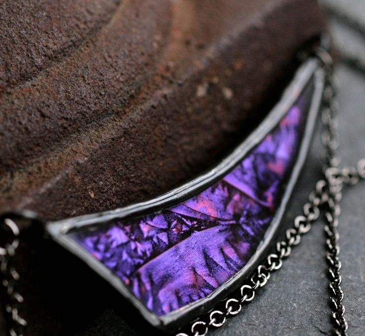 Best 25 purple pendants ideas on pinterest purple jewelry asymmetrical necklace purple pendant stained glass necklace modern boho necklace gunmetal necklace curved bib necklace deep mozeypictures Gallery