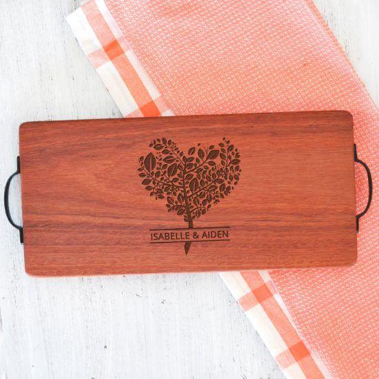 Personalised Heart Tree Chopping Board