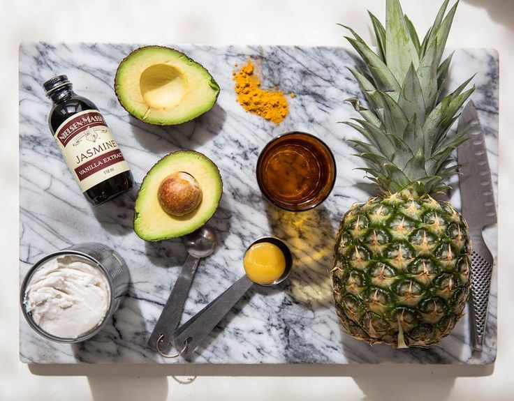 The makings of our Pina Colada Smoothie.