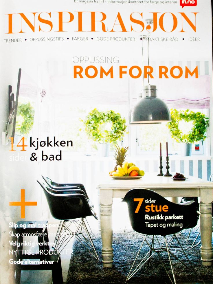 Nå får du Inspirasjon gratis på butikken!    Dette er IFIs interiørmagasin om farger, interiør, eksteriør trender, nyheter, tips og ideer.  Spør i din farge og interiørbutikk - der du kjøper maling og tapet
