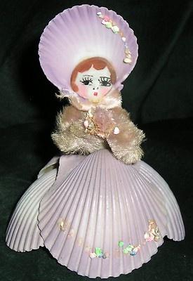 Vintage shell doll. Florida