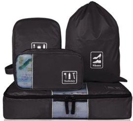 Bagsmart 4 delige bagage organizer set-zwart