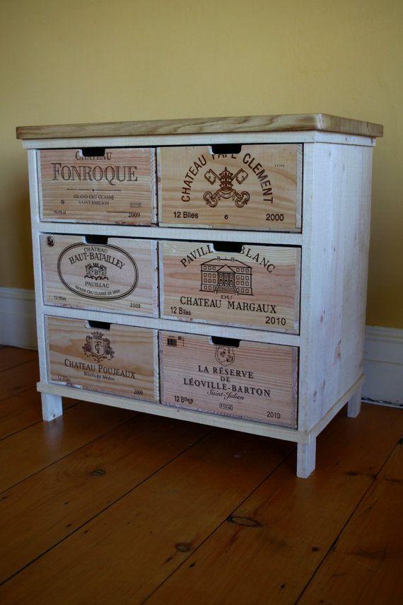 Oak storage chest of drawers / cabinet made with von BoisRustique